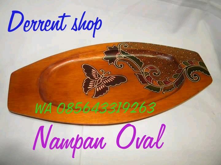 Jual Nampan Kayy oval Murah