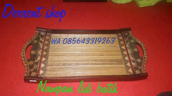 Nampan Bambu Lidi Batik