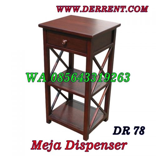 Meja Dispenser Kayu Minimalis