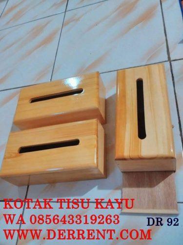 Jual Kotak Tisu Kayu Pinus