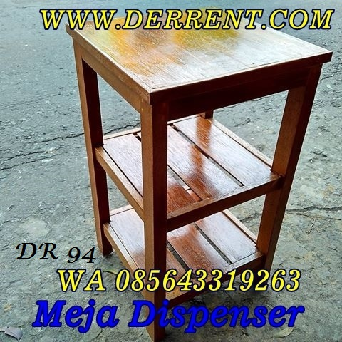 Jual Meja Dispenser Kayu