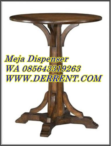Meja Dispenser Kayu