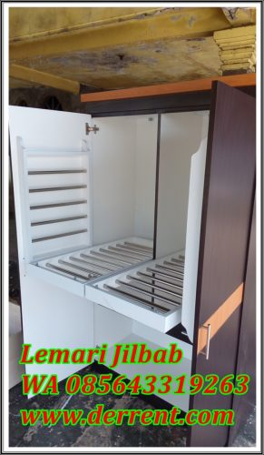 Lemari Jilbab kayu